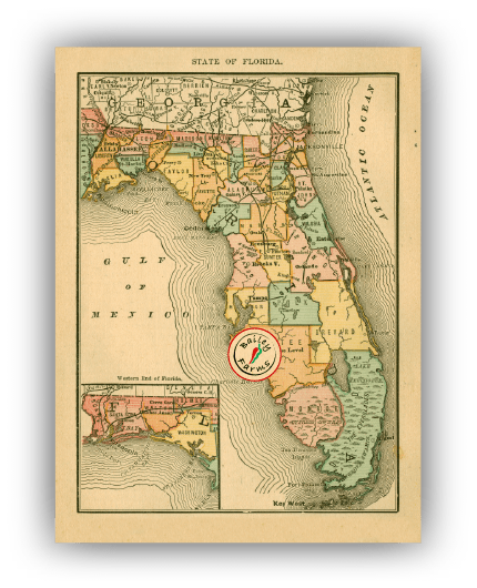 Map of Flordia